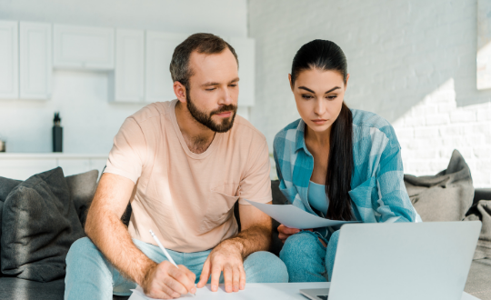 Couple applying for a mortgage in principle
